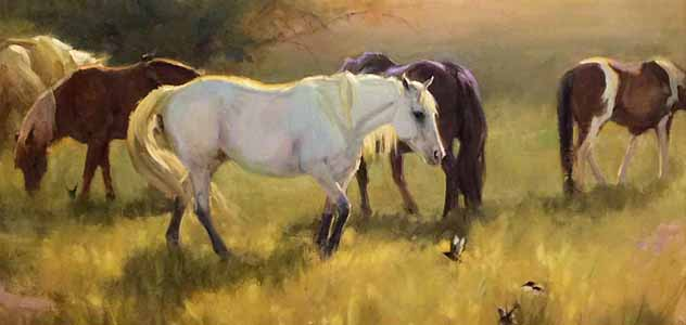colorado oil painter animals horses landscape birds bird